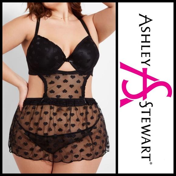 Ashley Stewart Other - 🆕️ Ashley Stewart-Heart Mesh Lingerie Sz 1X